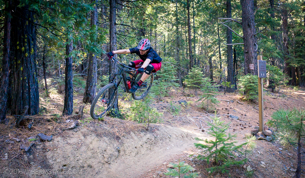With practice, any bump on the trail becomes an opportunity for air time, as Bikeskills coach Jason Van Horn demonstrates.