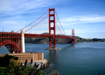 The Golden Gate Bridge Taken During a Bike Commute with a Canon SD950 IS