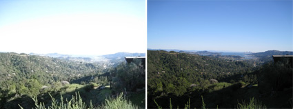 Picture on left with an ASA setting of 3200. Right, ASA 64. Quite a difference!