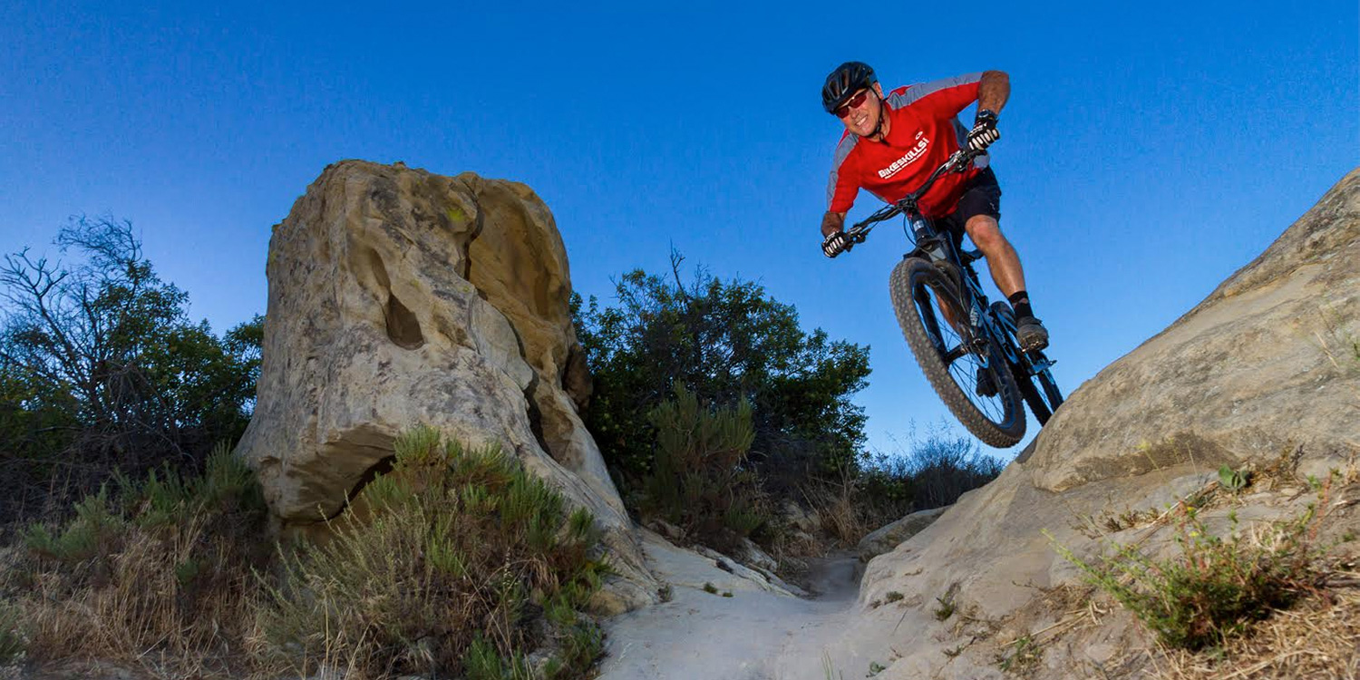 Bikeskills SoCal Coach Bob Loeffler on his home trails